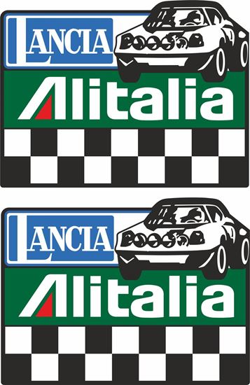 Picture of Lancia Stratos Rally Team Decals / Stickers