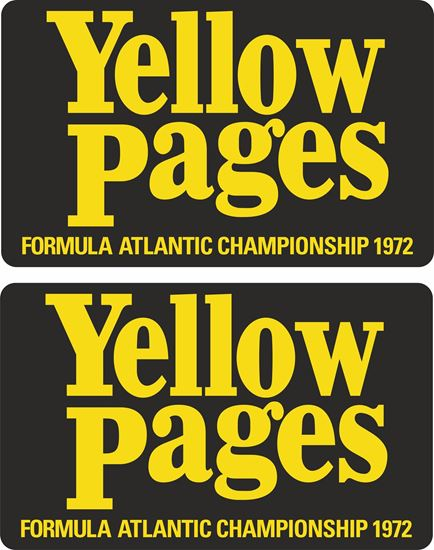 Picture of Formula Atlantic Yellow Pages 1972 Decals / Stickers