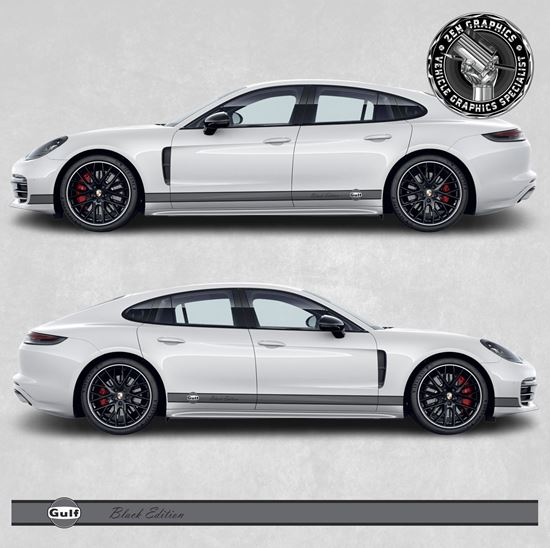 Picture of Panamera Gulf Black Edition side Stripes