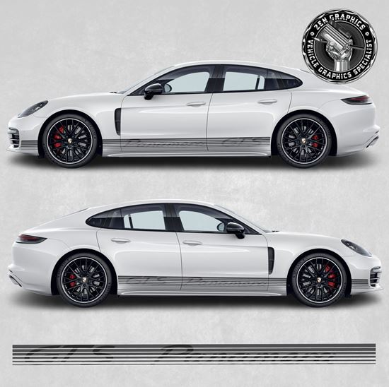 Picture of Panamera GTS side Stripe fade