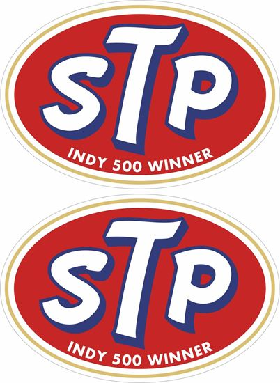Picture of STP Indy Car Winner Decals / Stickers