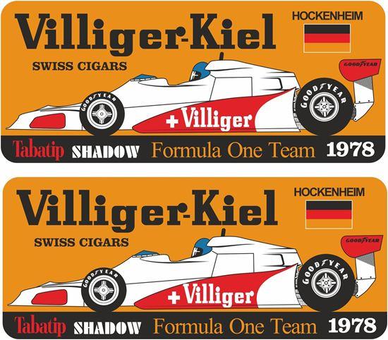 Picture of Villiger Tabatip Shadow D19 F1 Team Hockenheim GP Decals / Stickers