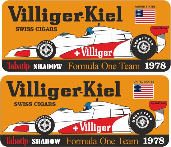 Picture of Villiger Tabatip Shadow D19 F1 Team Long Beach USA GP Decals / Stickers