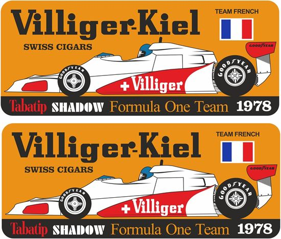 Picture of Villiger Tabatip Shadow D19 F1 Team French GP Decals / Stickers