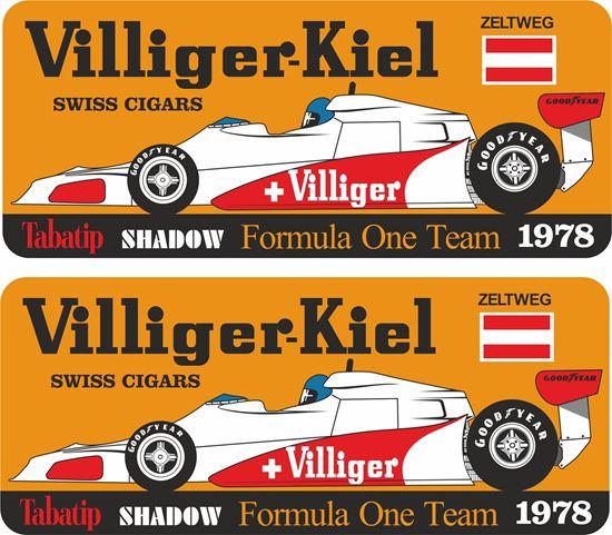 Picture of Villiger Tabatip Shadow D19 F1 Team Zeltweg GP Decals / Stickers