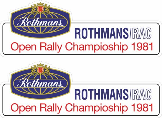 Picture of Rothmans open Rally Championship 1981 Decals / Stickers