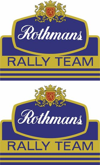 Picture of Rothmans Rally Team Decals / Stickers