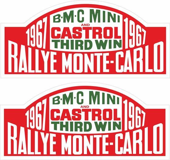 Picture of BMC Mini Monte Carlo 1967 Decals / Stickers