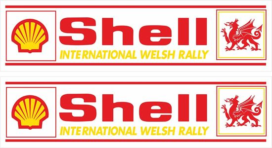 Picture of Shell International Welsh Rally Decals / Stickers