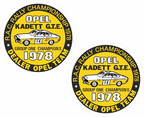 Picture of Opel Kadett GT/E 1978 RAC Rally Championship Decals / Stickers