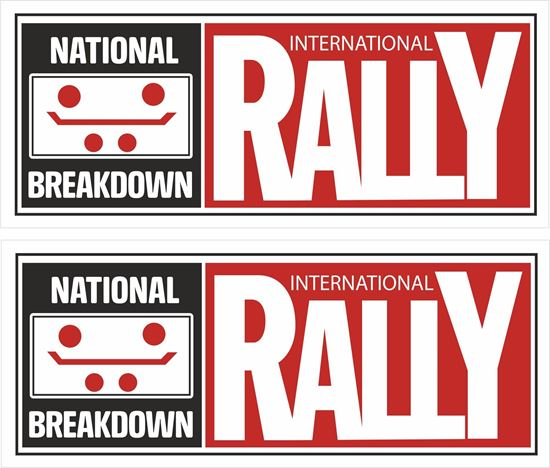 Picture of National Breakdown International Rally Decals / Stickers