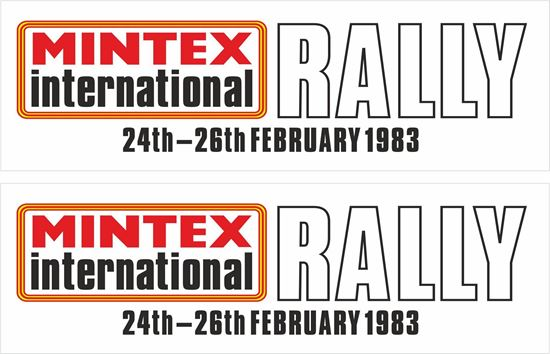 Picture of Mintex International Rally 1983 Decals / Stickers