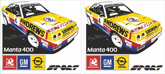 Picture of Opel Manta 400 Russell Brookes Decals / Stickers