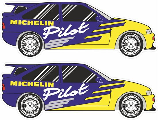 Picture of Michelin Pilot Sport Ford Escort Cosworth Decals / Stickers