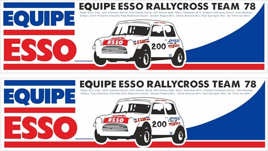 Picture of Esso Equipe Rally Cross Team 78 Decals / Stickers