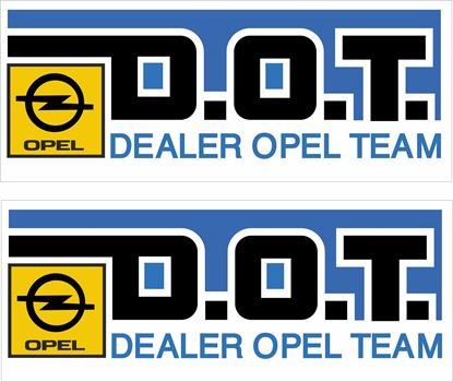 Picture of Opel Dealer Team Decals / Stickers