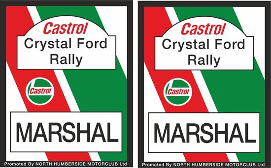 Picture of Castrol Crystal Ford Rally Decals / Stickers
