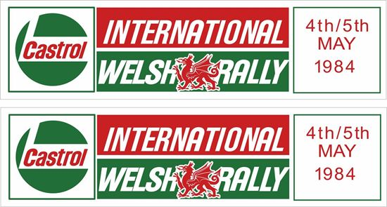 Picture of Castrol International Welsh Rally Decals / Stickers