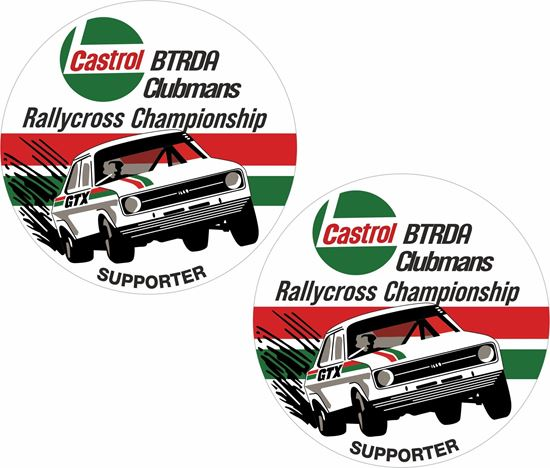 Picture of BTRDA Clubmans Rallycross Championship Supporter Decals / Stickers