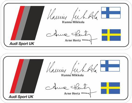 Picture of Audi Sport UK Hannu Mikkola Arne Hertz Team Decals / Stickers