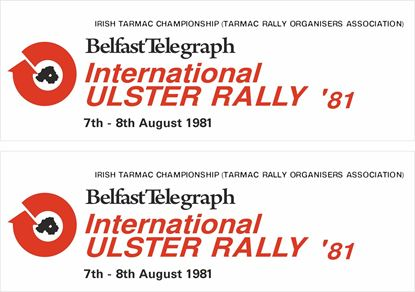 Picture of 1981 Ulster Rally Decals / Stickers