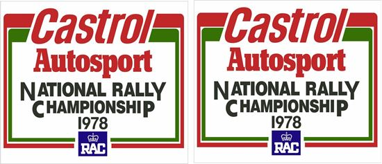 Picture of 1978 Castrol Autosport Rally Championship Decals / Stickers