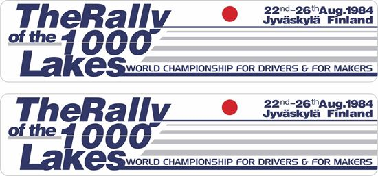 Picture of The Rally of the 1000 Lakes Decals / Stickers
