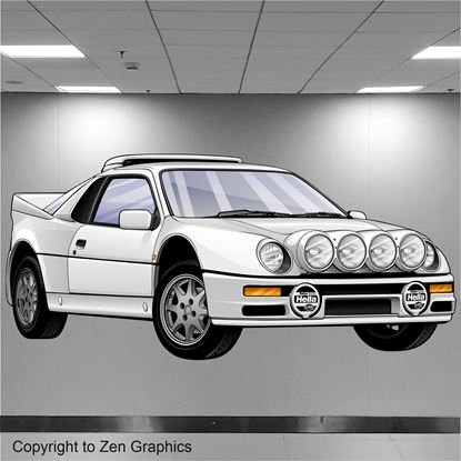 Picture of Ford Escort RS200 Wall Art sticker (full colour)