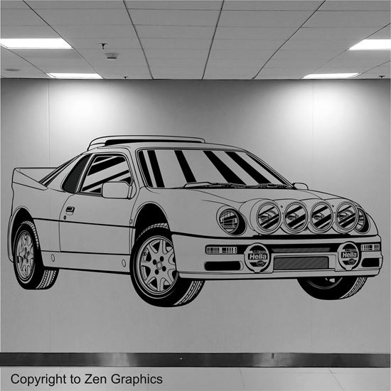 Picture of Ford Escort RS200 Wall Art sticker