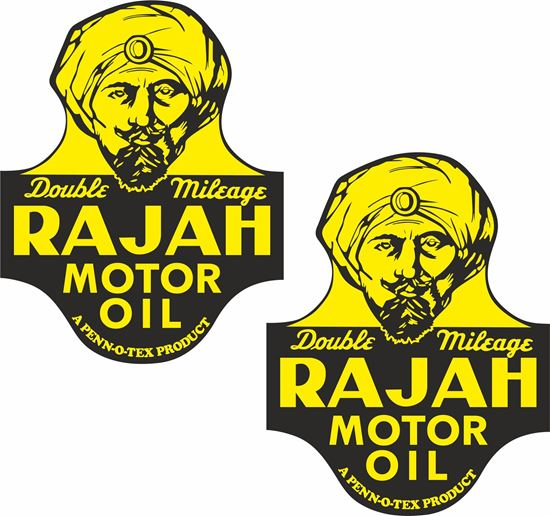 Picture of Rajah Motor Oil Decals / Stickers