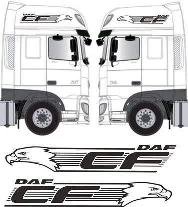 Picture of DAF CF Euro 6 side Eagle CF roof Graphics  / Stickers