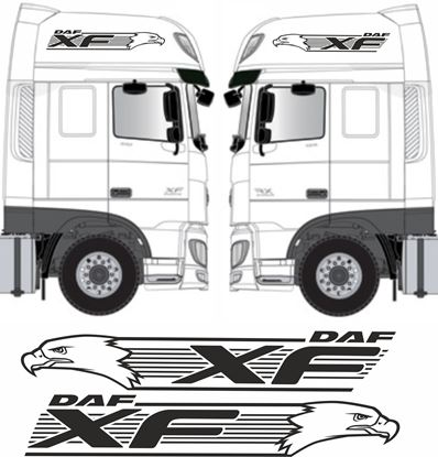 Picture of DAF XF Euro 6 side Eagle XF roof Graphics  / Stickers