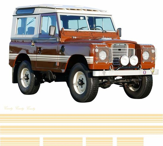 Picture of Defender 88 Series 3 County side Stripes / Stickers