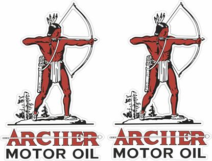 Picture of Archer Motor Oil Decals / Stickers