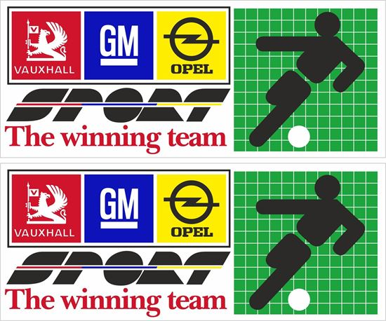 Picture of Opel Vauxhall Team Decals / Stickers