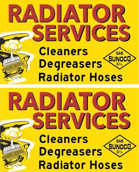 Picture of Sunoco Radiator Services Decals / Sticker