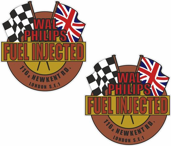 Picture of Wal Philips Fuel Injected Decals / Sticker