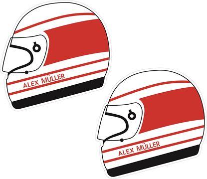 Picture of Alex Muller Helmet Decals / Stickers