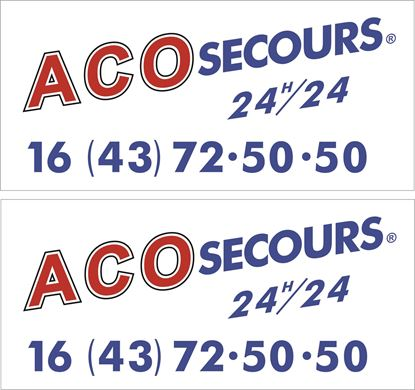 Picture of Aco Secours Le Mans Decals / Stickers