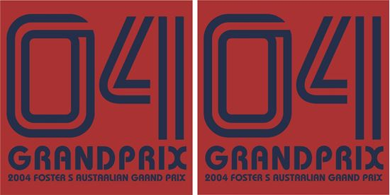 Picture of 2004 Fosters Australian Grand Prix Decals / Stickers