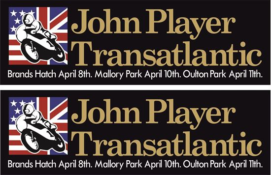 Picture of John Player Transatlantic 1977 Decals / Stickers