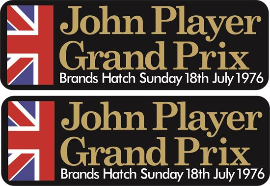 Picture of John Player Grand Prix 1976 Decals / Stickers