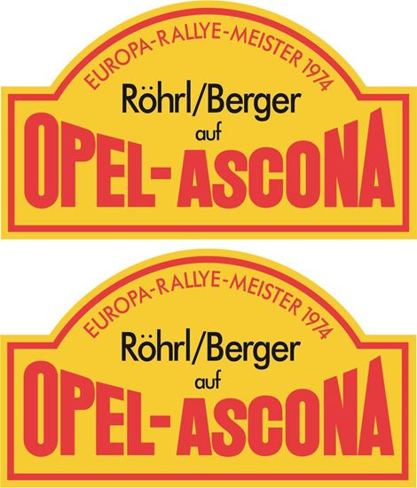 Picture of Opel - Ascona European Rally Decals / Stickers