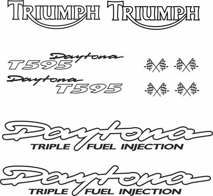 Picture of Triumph Daytona T595 replacement Decals / Stickers