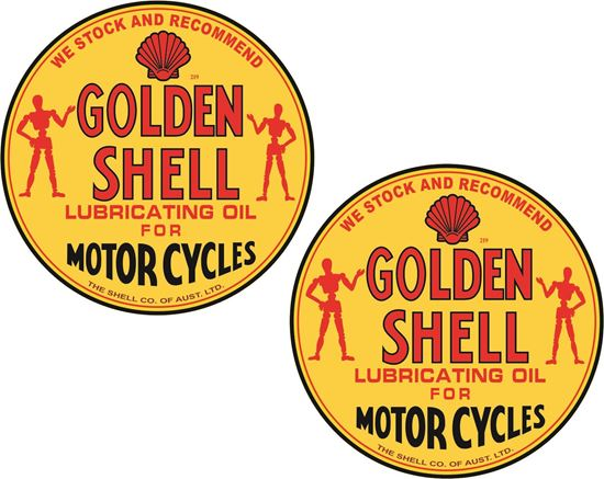 Picture of Shell Oil Motorcycles Decals / Sticker