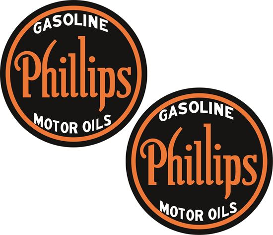 Picture of Philips Gasoline Motor Oils Decals / Stickers
