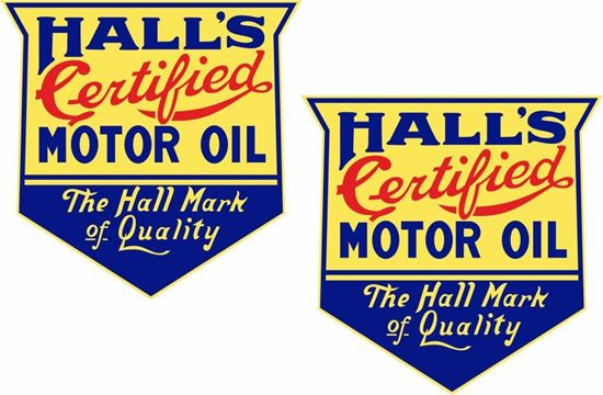 Picture of Hall's Motor Oil Decals / Sticker