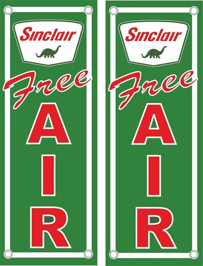 Picture of Sinclair Free Air Decals / Stickers