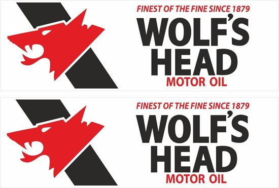 Picture of Wolf's Head Motor Oil Decals / Stickers