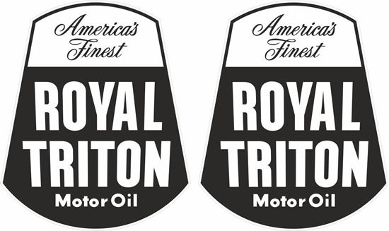 Picture of Royal triton Motor Oil Decals / Stickers